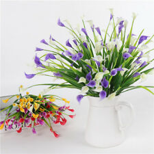 4pcs Artificial Calla Lily Real Touch Flower DIY Home Decor Wedding Bouquet
