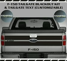 Ford F -150 Tailgate Blackout Style Decal Vinyl Stripes2009-2014 Avery + Text