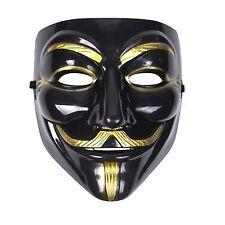 Mens Womens Unisex Anonymous Vendetta Halloween Fancy Dress Mask - Black