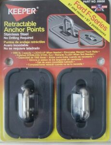 Retractable truck Anchor Points Bull Rings Ford F-Series 97&up Model05658 Keeper
