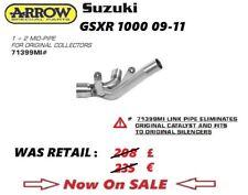 SUZUKI GSXR 1000 2009 09 2010 10 2011 11 ARROW EXHAUST MID PIPE 1 2 Cat Elim