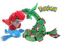 Pokemon Center Rayquaza and Groudon & Kyogre Plush Stuffed Doll Toy SET 3pc