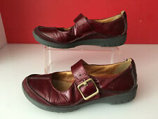 Clarks Unstructured Red Patent Leather Mary Jane Casual Shoes Size 5.5  EUR 38.5