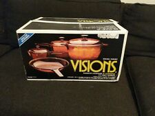 Visions Rangetop Cookware Six Piece Set By Corning Amber V-370-N