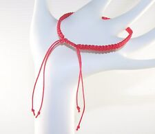 Handmade Macrame Art Surf Style Red Bracelet Knotted / Knot Cord Kabbalah Unisex