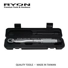 "1/4"" Micrometer Torque Torq Ratchet Wrench 2-24 Nm Click Type Duel Scale Taiwan"