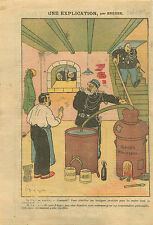 Caricature Politique Antiparlementaire Gendarmes Alambic 1910 ILLUSTRATION