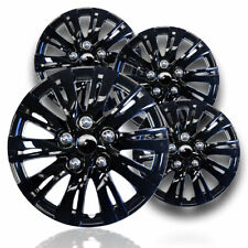 "15"" Gloss Black Hubcaps Snap On Wheel Covers fits Steel Rims with R15 tires"