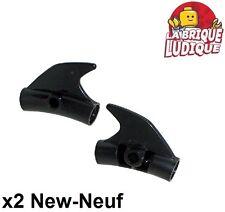 Lego technic - 2x Pin Connector Round Curved fin aileron noir/black 87745 NEUF