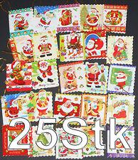25 Geschenkanhänger Weihnachten, mit Glitter & Wellenrand, Anhänger,gift tag,NEU