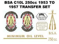 BSA C12 1953-57 Transfers Decals Set DBSA110 Classic Motorcycle