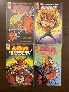 Badger Goes Berserk 1-4 High Grade First Comics Lot Set Run CL47-121