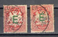 ALEMANIA -BAVIERA- 1908 YVERT&TELLIER 3 USADO OFICIAL DE FERROCARRIL DEL ESTADO