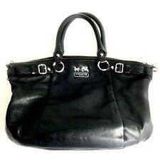 Coach Black Leather Hand Bag ~Mint Condition~