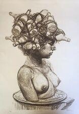 """Serigraph by Roberto Fabelo """"Giralda"""".  2013. Original signed. Erotic Art. Cuba"""