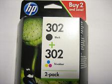 HP ORIGINAL HP 302 Black + Color for DJ DESKJET 1110 2130 3630 3631 3632 3633 3