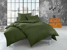 Fein Flanell Bettwäsche uni / einfarbig 100% Baumwolle - viele Farben & Größen