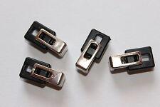 10 Kordelstopper, Kunststoff, ca. 23 x 11 mm Durchmesser, schwarz-silber
