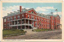 St. Joseph's Hospital in Nashua NH Postcard 1922