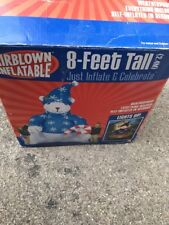 Large Gemmy Airblown Inflatable Polar Bear, 8 Ft Christmas Nice!!! 2004