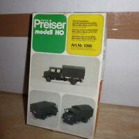 Preiser 1266 H0 MERCEDES BENZ LA 911 FAHRSCHULWAGEN für BGS und Bundeswehr BW
