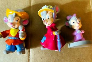 """Vtg Applause 1991 Three An American Tail Go West Fievel Figures PVC 2""""- 3"""" Toys"""