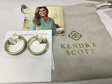 Kendra Scott Jack Hoop Earrings in Clear Crystal and Gold Plated