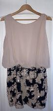 TFNC Nude/Black Sequin Skirt Dress, New, Size XXL