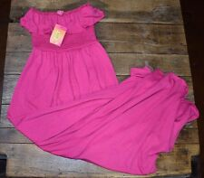 MAXI LONG TUBE DRESS by Catch My I - SZ SMALL NWT Pink Flounce Beach Lounge (C1)