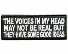 THE VOICES IN MY HEAD MAY NOT BE REAL Embroidered Funny Saying Biker Patch Vest
