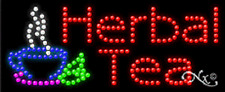 "NEW ""HERBAL TEAS"" 27x11 LOGO SOLID/ANIMATED LED SIGN W/CUSTOM OPTIONS 21221"