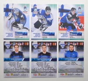 2021 BY cards IIHF U20 World Championship Team Finland BASE Pick a Player Card