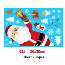 Removable Christmas PVC Static Sticker Santa Elk Window Stickers Beautify snowfl