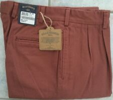 BRAND NEW Bills Khakis Brick Red M2P-BRTB Pleated Front Twill Size 37- MSRP $165