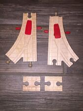 Thomas wooden set of Action switch tracks clickety clack track Lot Of 4