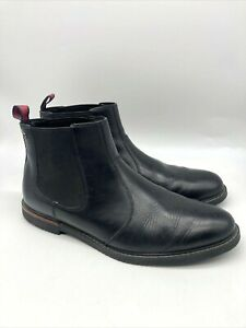 Timberland Mens Anti Fatigue Ankle Pull On Chukka Boots Black Size 11.5 EU 45.5