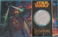 Disney Star Wars Weekend 2014 Passholder 39mm Silver Plated Commemorative Coin