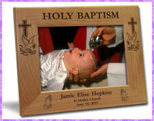 5x7 PERSONALIZED BAPTISM PICTURE FRAME GIFT - Free 3 lines engraving