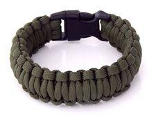 Premium 550 Paracord Survival Bracelet OD Green 5/8 Plastic Buckle Hand Made USA