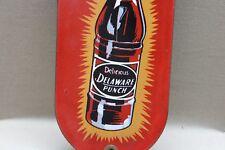 DRINK DELAWARE PUNCH  SODA POP COKE PORCELAIN SIGN GAS OIL CAR FARM  FORD MOTOR