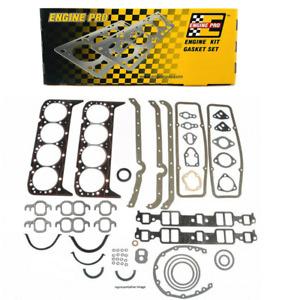 Engine Pro Overhaul Gasket Set for Chevrolet SBC 283 302 307 327 350 5.7L 2 PC