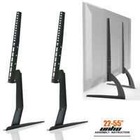 Table Top TV Stand Base Bracket Monitor Riser For 17-55 Samsung Vizio LG LCD/LED