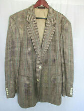 Boston Traders 46L Sport Coat Handsome Brown Plaid 100% Silk
