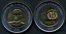 DOMINICAN REPUBLIC 10 Pesos 2008 bimetallic General Mella UNC