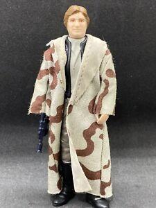 Vintage Star Wars HAN SOLO (TRENCHCOAT) 1984 NO COO ORIGINAL CLOAK & BLASTER