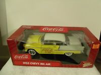 Coca Cola Brand Johnny Lightning 1/18 Scale 1955 Chevy Bel Air Classic Car NIB