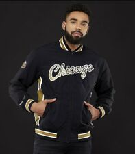 Authentic NBA Mitchell & Ness Black / Gold Chicago Bulls Warm-up Jacket
