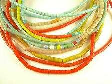 7 strand mixed lot glass flat ended trade beads old tribal Czech Africa AG-0019