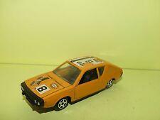 RENAULT 17 TS COUPE Orange NOREV JET CAR Sans Boite 1:43 défaut décalco