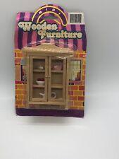 Vintage Wooden Doll House Furniture - Cabinet Kitchen